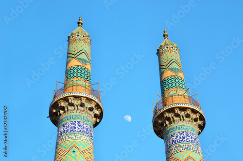Fotografia, Obraz Minarets at the Congregational Mosque, Jame Mosque in the ancient city of Yazd,