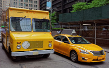 Traditional Yellow Taxi And A ...