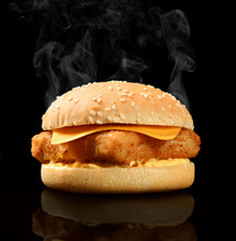 Tasty Burger With Fish Fillet ...