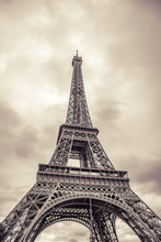 The Eiffel Tower. Vintage Phot...