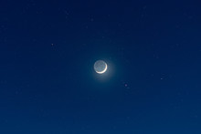 Waxing Crescent Moon, Earthshi...