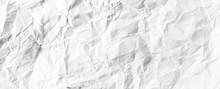 Crumpled White Paper Textured ...