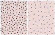 Simple Hand Drawn Irregular Dots Vector Patterns. Black, Gray and White Dots on a Light Blush Pink Background. Infantile Style Abstract Dotted Vector Print for Fabric, Textile and Wrapping Paper.