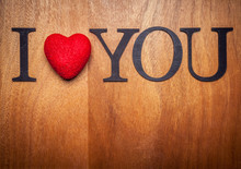 I Love You On Wooden Background