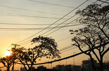 Sunset At The Binh Dong Wharf, Ho Chi Minh City, Vietnam