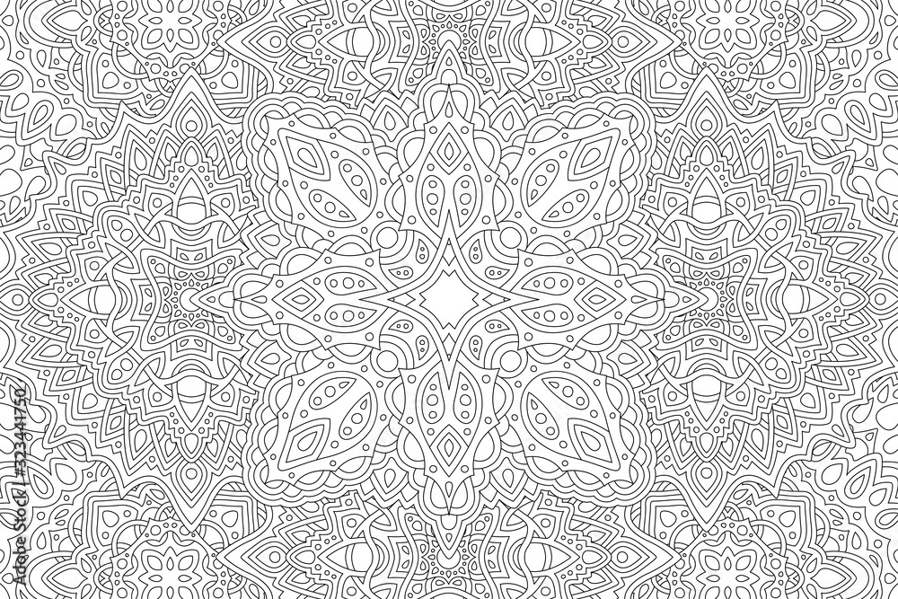 Fototapeta Art for adult coloring book with eastern pattern