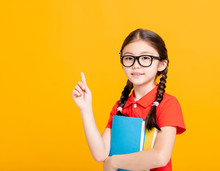 Adorable Student Girl  Holding...
