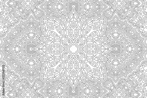 Art for adult coloring book with eastern pattern Canvas Print
