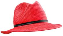 Chapeau Féminin Rouge Sur Fon...