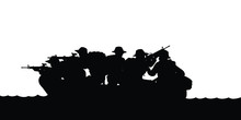 Spacial Force Soldier Unit Silhouette Vector