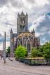 canvas print picture - St. Nicholas church in center of Gent, Belgium