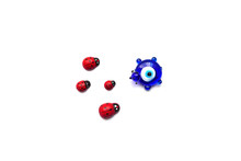 Ladybug And Evil Eye Bead On A...