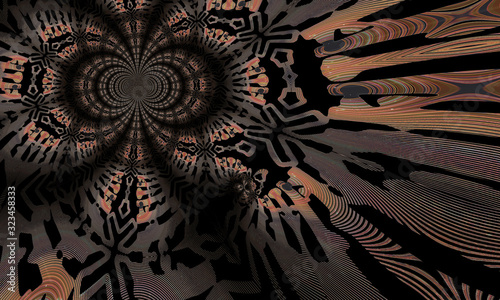Modern futuristic pattern. dynamic background. Fractal artwork for creative graphic design