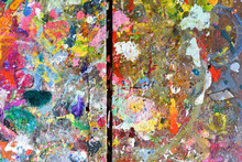 Art Paint Background Of Bright...