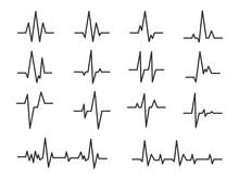 Ecg. Sinusoidal Pulse Lines, F...