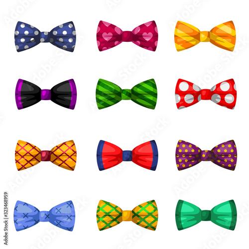 Photo Collection of elegant bow ties, trendy neckties