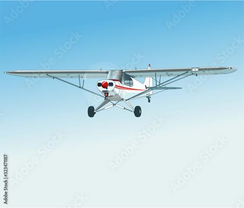 Einmotoriges zweisitziges Flugzeug Wallpaper Mural
