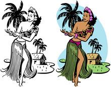 A Native Hawaiian Woman Perfor...