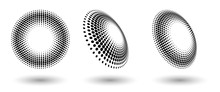 Halftone Shapes, Abstract Dots...