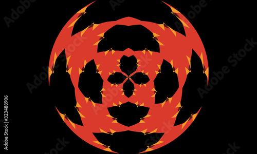 Photo abstract creative multi colored bright symmetric geometric background