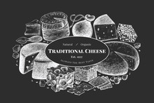 Cheese Design Template. Hand D...