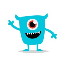 Simple Cute Monster Character ...