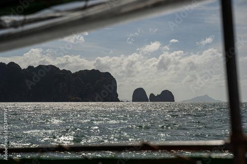 Beautiful tropical nature near ocean stock photo
