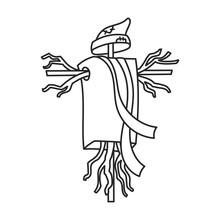 Scarecrow Vector Icon.Outline ...