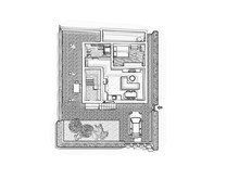 3d Floor Plan. Black&white Flo...