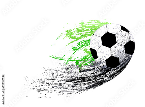Fotografia, Obraz Abstract sports background with soccer ball