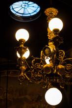 Golden Bulb Ceiling Light - Paris, France