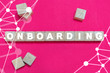 canvas print picture - Onboarding Business Banner Background. Onboard Concept. On boarding.