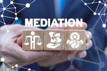 Mediation Negotiation Arbitration Concept. Business Mediate.