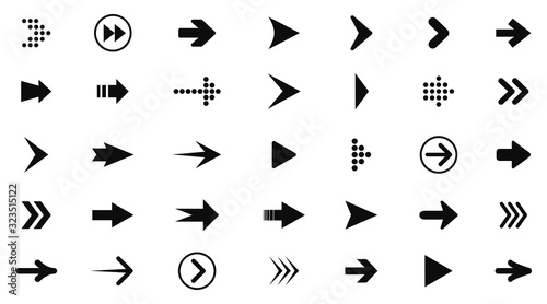 Set arrow icon Canvas Print