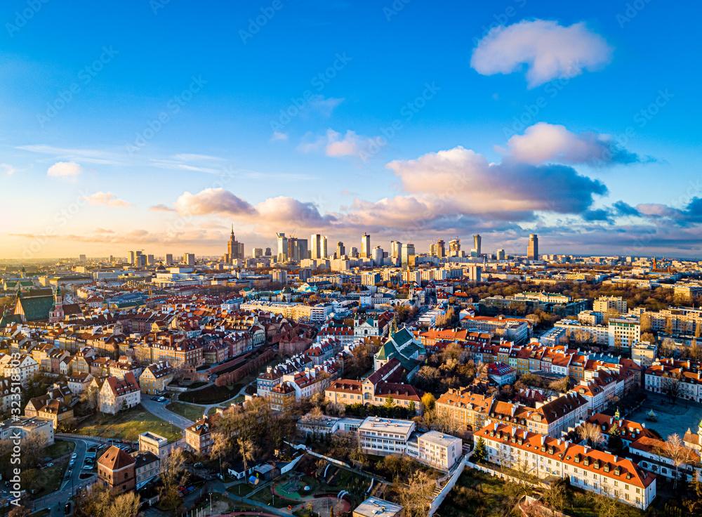 Warszawa <span>plik: #323518303 | autor: Drone in Warsaw</span>