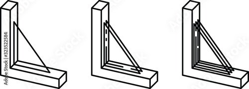 Fototapeta Window Glazing types icon, vector obraz