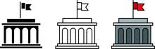 Government Icon, Vector Line I...
