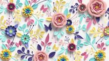 3d Render, Horizontal Floral P...
