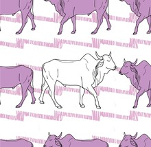 Seamless Pattern With Cows. Ze...