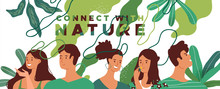 Connect With Nature People Group Concept
