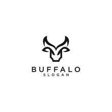 Abstract Buffalo Logo Symbol T...