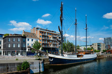 Ship Moored In Willemdock In A...