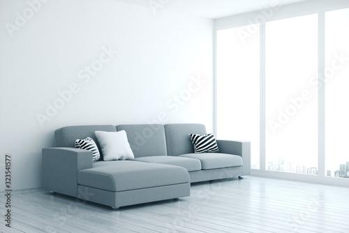 Fotografia Contemporary living room interior with sofa