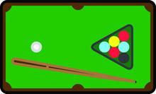 Billiard Icon, Thin Vector Illustration