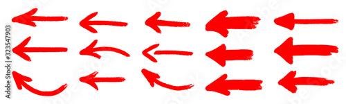Obraz red grunge arrow vector. red grunge arrow brush.red grunge arrow paint.red grunge arrow  ink - fototapety do salonu