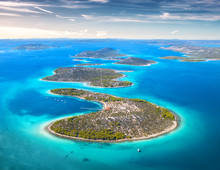 Aerial View Of Beautiful Small...