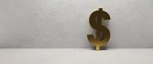 Black And Golden Dollar Sign O...