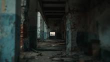 Long Corridor Of Ruined Abando...
