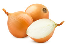 Onion, Isolated On White Background, Clipping Path, Full Depth Of Field