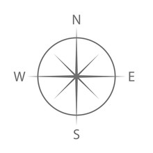 Compass Sign. Navigation Symbo...